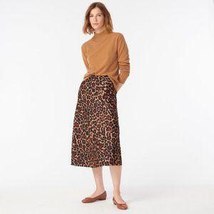 J.Crew Pull-on Leopard Slip Skirt XXS NWOT